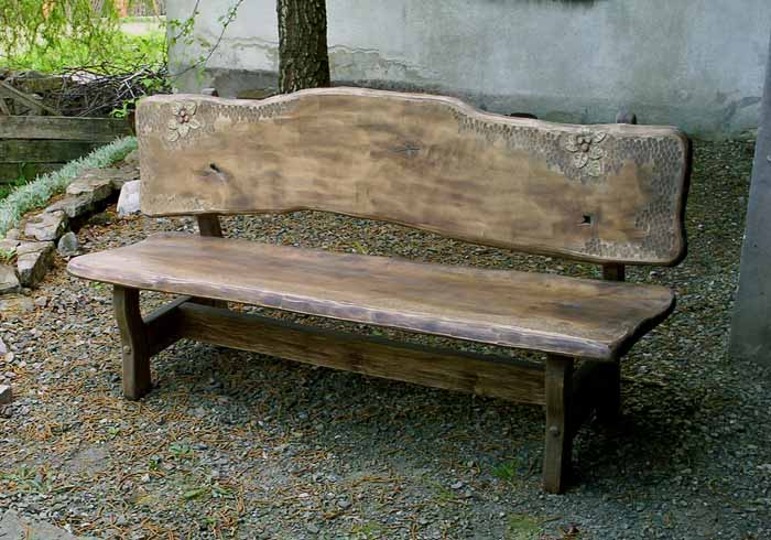 Groovy Garden Bench With Carving Sculpture Furniture Creativecarmelina Interior Chair Design Creativecarmelinacom